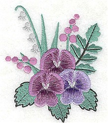 Pretty Pansies embroidery design