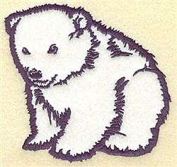 Polar Cub Applique embroidery design