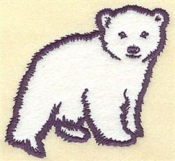 Bear Cub Applique embroidery design