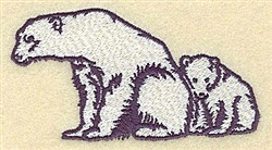 Bear With Cub embroidery design