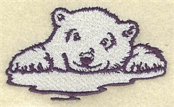 Bear On Ice embroidery design