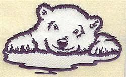 Bear On Ice Applique embroidery design