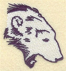 Growling Bear embroidery design