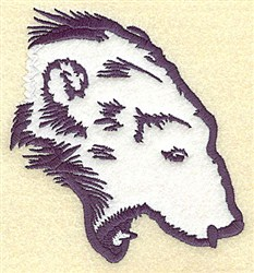 Growling Bear Applique embroidery design