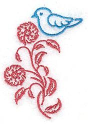 Pretty Bluebird embroidery design