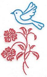 Sweet Bluebird embroidery design