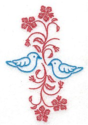 Bluebirds On A Vine embroidery design