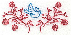 Bluebird In The Middle embroidery design