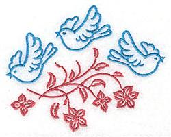 Bluebird Trio embroidery design