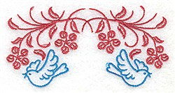 Posies & Bluebirds embroidery design