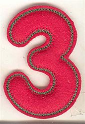 Puffy Felt 3 embroidery design