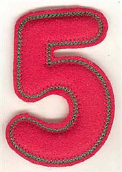 Puffy Felt 5 embroidery design