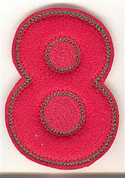 Puffy Felt 8 embroidery design