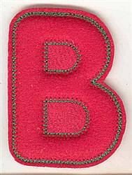 Puffy Felt B embroidery design