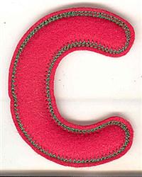 Puffy Felt C embroidery design