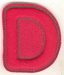 Puffy Felt D embroidery design