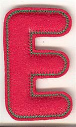 Puffy Felt E embroidery design