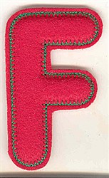 Puffy Felt F embroidery design