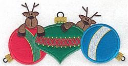Applique Deco Reindeers embroidery design