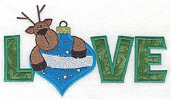 Love Reindeer Applique embroidery design
