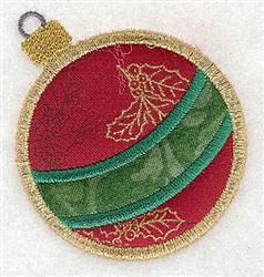 Applique Christmas Ornament embroidery design