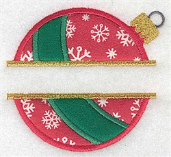 Split Applique Ornament embroidery design