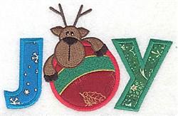 Applique Joy Reindeer embroidery design