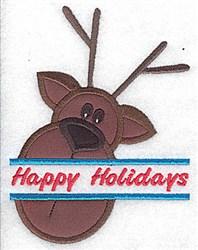 Reindeer Head Applique embroidery design