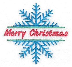 Merry Christmas Snowflake embroidery design