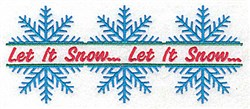 Let It Snowflakes embroidery design