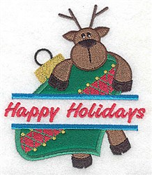 Happy Holidays Applique embroidery design