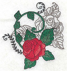 Red Rose Motif embroidery design