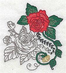 Rose Art embroidery design