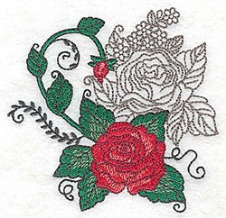 Roses & Flowers embroidery design