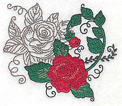 Rose Vine embroidery design