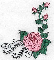 Rose Corner embroidery design