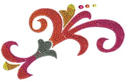 Scrollworks Swirl embroidery design
