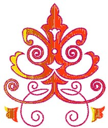 Scrollworks Plant Leaves embroidery design