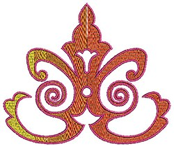 Scrollworks Leaves embroidery design