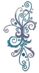 Scrollworks Swirls Decor embroidery design