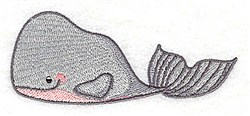 Whale Friends embroidery design