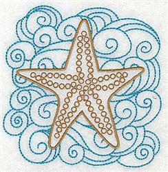 Starfish In Water embroidery design