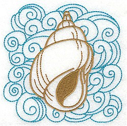 Tulip Shell In Water embroidery design