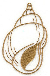 Tulip Shell embroidery design