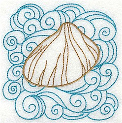 Clam In Water embroidery design