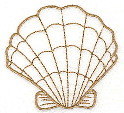 Clam Shell Outline embroidery design