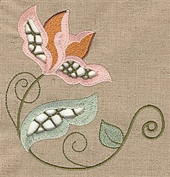 Cutwork Floral embroidery design
