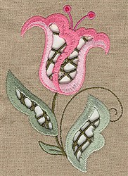 Blooming Cutwork embroidery design