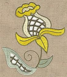 Cutwork Floral Stem embroidery design