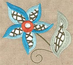 Cutwork Spring Flower embroidery design